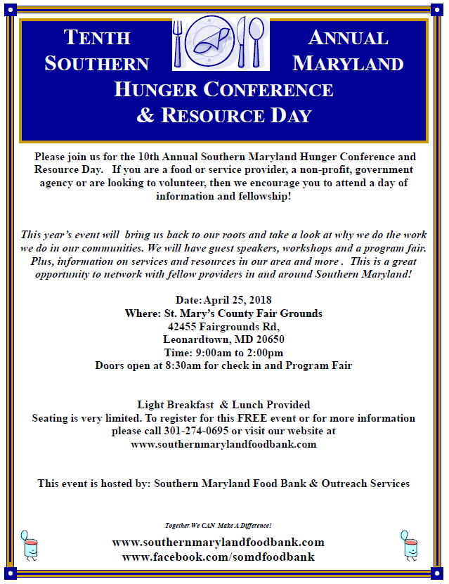 10th Hunger Conference Flyer